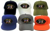 24 Units of Cap with embroidered patch, POW-MIA Are Not Forgotten - Baseball Caps/Snap Backs