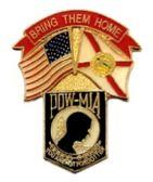 "96 Units of Brass Hat Pin, POW-MIA Shield, ""Bring Them Home - Hat Pins / Jacket Pins"