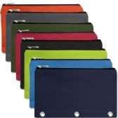 96 Units of 3 Ring Binder Pencil Case 8 Color Assortment - Pencil Boxes & Pouches