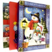 "48 Units of Xmas Gift Boxes - 3 pack - 14.25"" x 9"" x 2"" - Gift Bags Christmas"