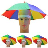 36 Units of RAINBOW UMBRELLA CAP - Umbrellas & Rain Gear