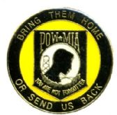 """96 Units of Brass hat pin, POW - """"Bring Them Home or Send Us Back"""" - Hat Pins / Jacket Pins"""