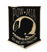 """96 Units of Metal Hat Pin, """"POW-MIA You Are Not Forgotten - Hat Pins / Jacket Pins"""