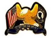 """96 Units of Brass Hat Pin, U.S. Eagle/POW-MIA - """"All Gave Some, Some Gave All - Hat Pins / Jacket Pins"""