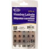 """36 Units of 1/2"""" Numbers Labels - Gold & Silver - Labels"""