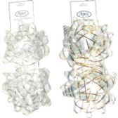 """60 Units of Gift Bows- 4"""" - 2 pack- Assorted colors - Bows & Ribbons"""
