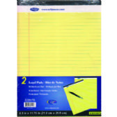 30 Units of Canary Legal Pads - Note Books & Writing Pads