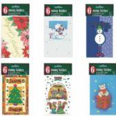 60 Units of Christmas Money Holder - 6 pack - Christmas Novelties