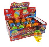 240 Units of GYROSCOPE WITH/ LIGHT & MUSIC MIXED COLORS - Light Up Toys
