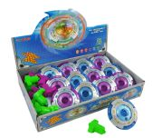 288 Units of GYROSCOPE WITH/ LIGHT & MUSIC MIXED COLORS - Light Up Toys