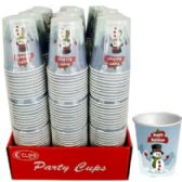 48 Units of Snowman designs Paper cups - Disposable Cups