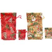 60 Units of Fancy Christmas glitter gift bag, 2pk - Gift Bags Christmas
