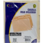 48 Units of Manila File Folders - 9 Pack - Folder