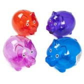 24 Units of Piggy Bank Plastic Pig Shape - Coin Holders/Banks/Counter