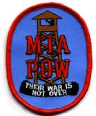 "48 Units of Embroidered iron on patch, MIA POW Their War Is Not Over, approximately 3.5"" in size - Sewing Supplies"