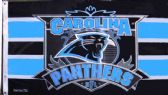 4 Units of 3' x 5' Carolina Panthers NFL licensed flag, End Zone design, with grommets. AMERICAN MADE FLAG - Flags