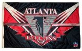 4 Units of 3' x 5' Atlanta Falcons NFL licensed flag, End Zone design, AMERICAN MADE FLAG with grommets. - Flags