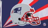 4 Units of 3' x 5' New England Patriots licensed NFL flag, Helmet design, AMERICAN MADE FLAG. NFL with grommets. - Flags