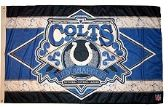 4 Units of 3' x 5' Indianapolis Colts NFL licensed flag, End Zone design, AMERICAN MADE FLAG with grommets. - Flags