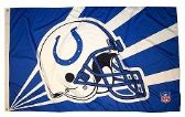 4 Units of 3' x 5' Indianapolis Colts NFL licensed flag, Helmet design, AMERICAN MADE FLAG with grommets - Flags