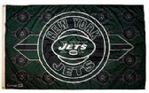 4 Units of 3' x 5' New York Jets NFL licensed flag, End zone design, AMERICAN MADE FLAG with grommets. - Flags