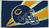 4 Units of 3' x 5' Chicago Bears NFL licensed flag, Helmet design, AMERICAN MADE FLAG with grommets - Flags