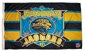 4 Units of 3' x 5' Jacksonville Jaguars NFL licensed flag, End Zone design, AMERICAN MADE FLAG with grommets. - Flags