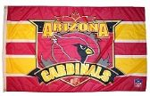 4 Units of 3' x 5' Arizona Cardinals NFL licensed flag, End Zone design, AMERICAN MADE FLAG with grommets. - Flags