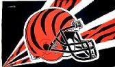 4 Units of 3' x 5' Cincinnati Bengals NFL licensed flag, Helmet design, AMERICAN MADE FLAG with grommet - Flags