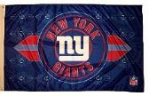 4 Units of 3' x 5' New York Giants NFL licensed flag, End Zone design, AMERICAN MADE FLAG with grommet - Flags