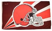 4 Units of 3' x 5' Cleveland Browns NFL licensed flag, Helmet design, AMERICAN MADE FLAG with grommets. - Flags