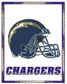 4 Units of 3' x 5' San Diego Chargers NFL licensed flag, Helmet design, AMERICAN MADE FLAG with grommets. - Flags