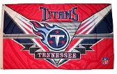 4 Units of 3' x 5' Tennessee Titans NFL licensed flag, End Zone design, AMERICAN MADE FLAG with grommets. - Flags
