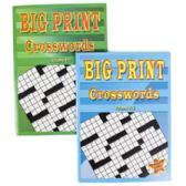 24 Units of Crossword Puzzles Big Print 96pg 2 Assorted In Pdq [3010] - Puzzles