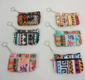 "144 Units of 5""x3"" Two-Comp Zippered Change Purse [Printed] - PURSES/WALLETS"