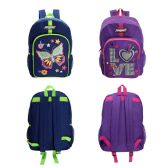 "24 Units of 17 "" Printed Girls Backpacks in 2 Assorted Colors - Backpacks 17"""