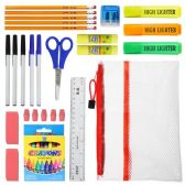 48 Units of 15 piece Wholesale Kids School Supply Kit - School Supply Kits