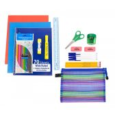 24 Units of 24 piece Wholesale Kids School Supply Kit - School Supply Kits