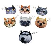 "72 Units of 3.5"" Small 3D Animal Face Change Purse - PURSES/WALLETS"