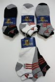 72 Units of Mens Assorted Colors Ankle Socks Thick Cushion Sole - Mens Ankle Sock