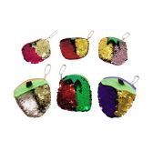 "72 Units of 4.5""x4"" Reversible Sequin Change Purse [Fruit] - PURSES/WALLETS"