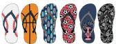 72 Units of Boys Sport Themed Flip Flops - Boys Flip Flops & Sandals