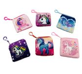 "12 Units of 5""x4.75"" Printed Unicorn Change Purse - PURSES/WALLETS"