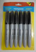 30 Units of 6pc Thick Black Marker Set - Markers