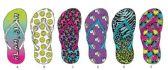 72 Units of GIRLS TROPICAL INSPIRED BASIC FLIP FLOPS - Girl's Flip Flops