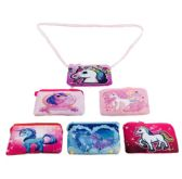 "12 Units of 7""x4"" Printed Unicorn Change Purse [Cross Body] - PURSES/WALLETS"