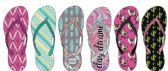 72 Units of Ladies Fashion Printed Flip Flops, Bohemian Prints - Women's Flip Flops