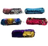 "12 Units of 7.5""x2.75"" Reversible Sequin Pencil Pouch - Pencil Boxes & Pouches"