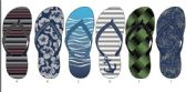 72 Units of Mens Fashion Print Summer Flip Flops - Men's Flip Flops & Sandals