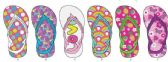 72 Units of Toddler Girls Assorted Flip Flop - Toddler Footwear